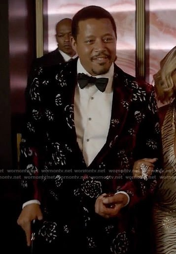 Lucious's red floral velvet jacket on Empire