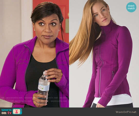 Lululemon Define Jacket in Regal Plum Purple worn by Mindy Kaling on The Mindy Project