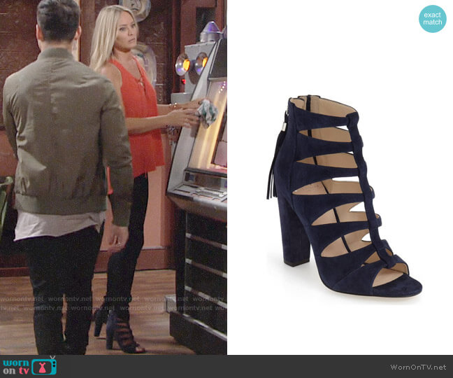 Marc Fisher LTD Hindera Sandal worn by Sharon Case on The Young & the Restless
