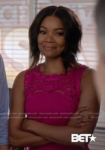 Mary Janes pink embroidered dress on Being Mary Jane