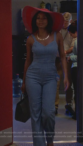 Mary Jane's chambray jumpsuit on Being Mary Jane