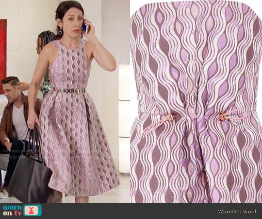 Mary Katrantzou Jacquard Dress worn by Lisa Edelstein on GG2D
