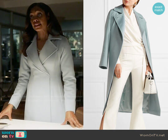 Max Mara Manuela Coat worn by Gina Torres on Suits