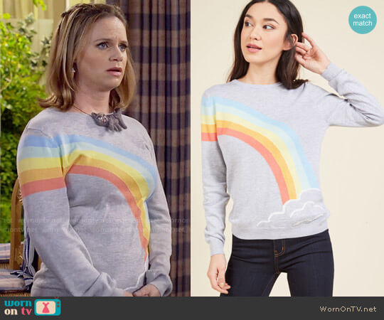ModCloth Keep Under Color Sweater by Sugarhill Boutique worn by Kimmy Gibbler (Andrea Barber) on Fuller House