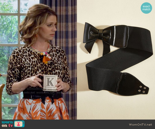 ModCloth Banned Bow, Baby! Belt in Black worn by Kimmy Gibbler (Andrea Barber) on Fuller House