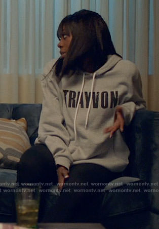 Molly's TRAYVON hoodie on Insecure