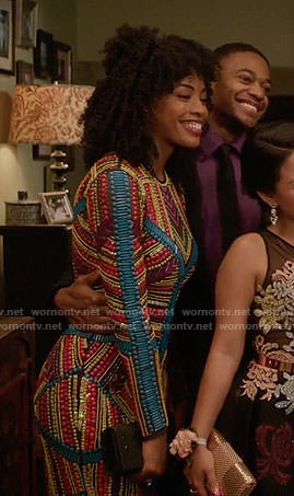 Olivia's multi-colored beaded prom dress on The Fosters