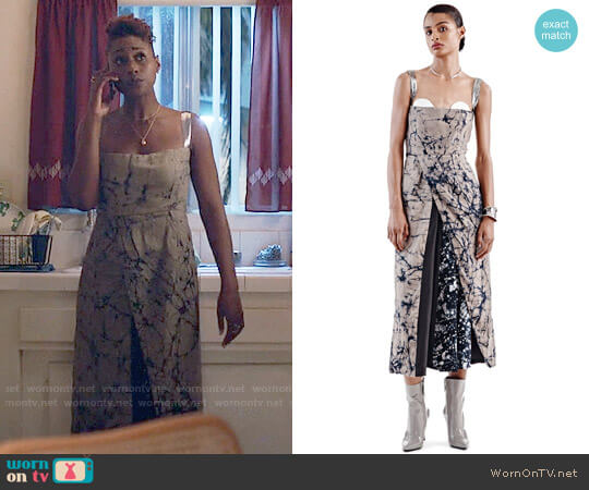 oxosi Reflection Adire Dress worn by Issa Dee (Issa Rae) on Insecure