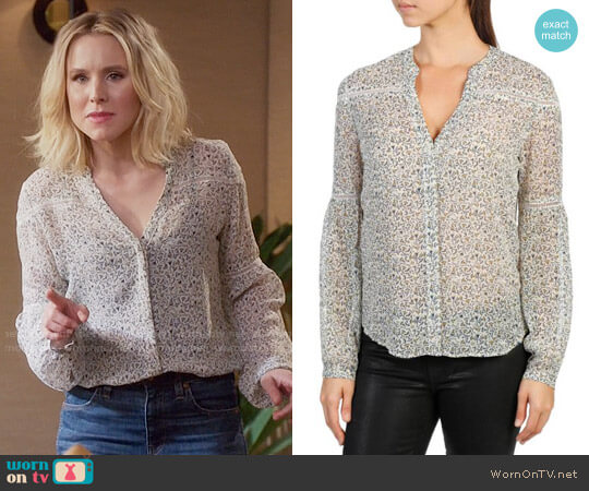 Paige Marbella Blouse worn by Kristen Bell on The Good Place
