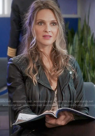 Phoebe's leather jacket on Girlfriends Guide to Divorce