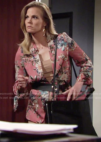Phyllis's pink floral jacket on The Young and the Restless