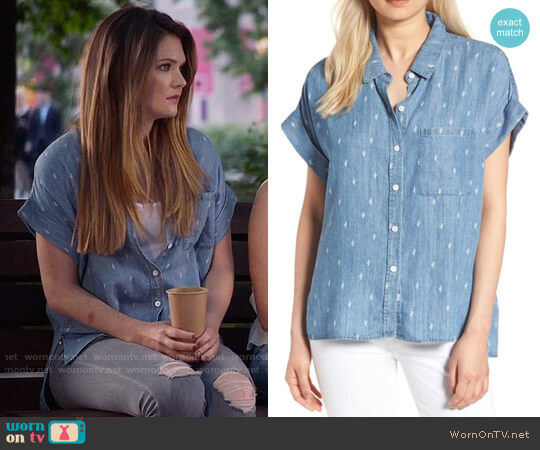 Rails Whitney Shirt worn by Meghann Fahy on The Bold Type