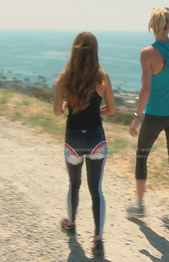 Lydia's rainbow print leggings on The Real Housewives of OC