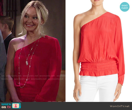 Ramy Brook Janey Top worn by Sharon Case on The Young & the Restless