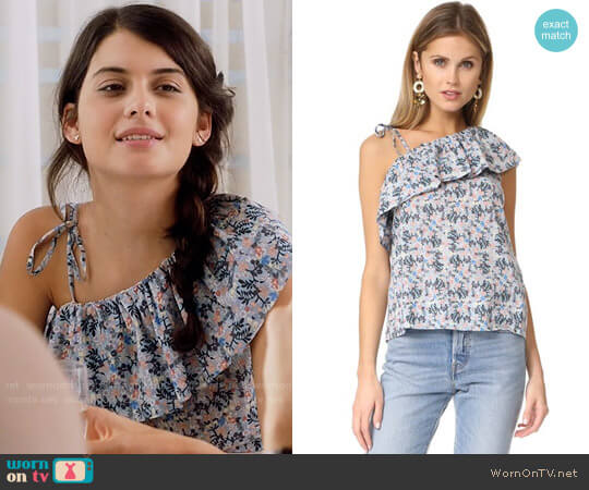 La Vie Rebecca Taylor Floraison Top worn by Sofia Black D'Elia on The Mick