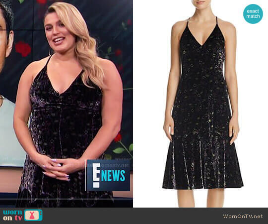 Floral Velvet Slip Dress by Rebecca Taylor worn by Carissa Loethen Culiner  on E! News