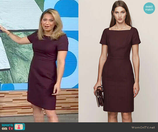 'Atlee' Short Sleeved Tailored Dress by Reiss worn by Ginger Zee on Good Morning America