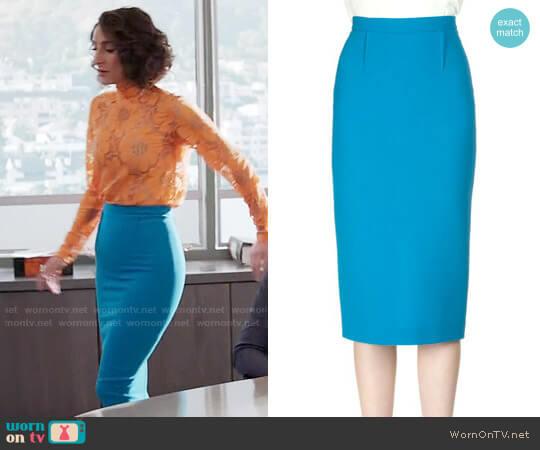Roland Mouret Arreton Skirt worn by Necar Zadegan on GG2D
