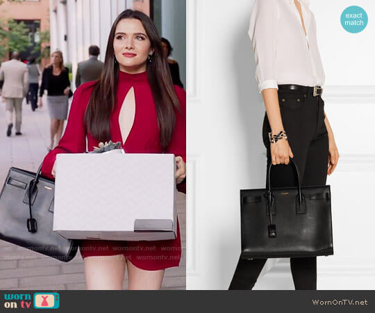 Saint Laurent Sac De Jour Medium Tote worn by Katie Stevens on The Bold Type