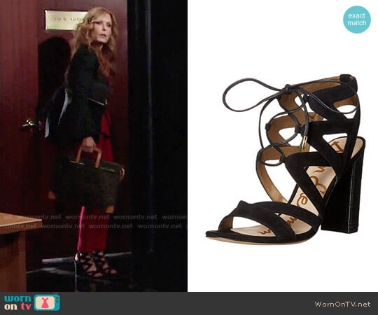 Sam Edelman Yardley Sandals worn by Lauren Fenmore (Tracey Bregman) on The Young & the Restless