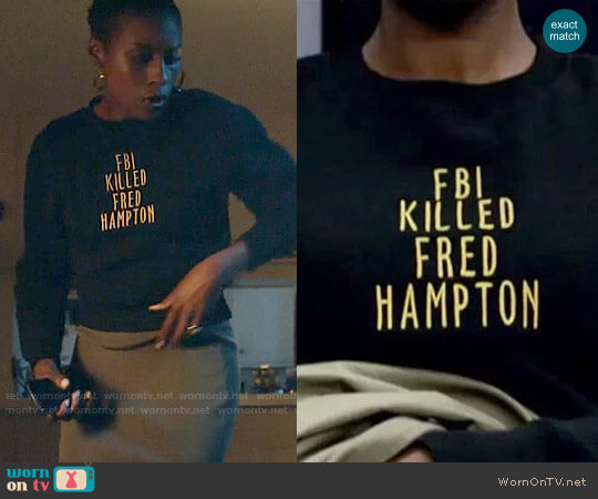samoxawol FBI Killed Fred Hampton worn by Issa Rae on Insecure