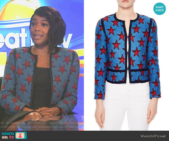 Bristol Star Jacquard Jacket by Sandro worn by Gabrielle Union on Being Mary Jane