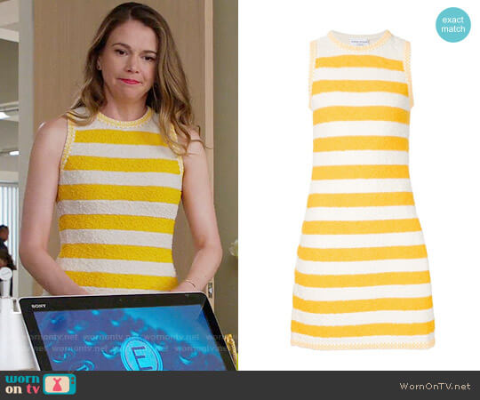 Sonia Rykiel Striped Boucle Dress worn by Sutton Foster on Younger