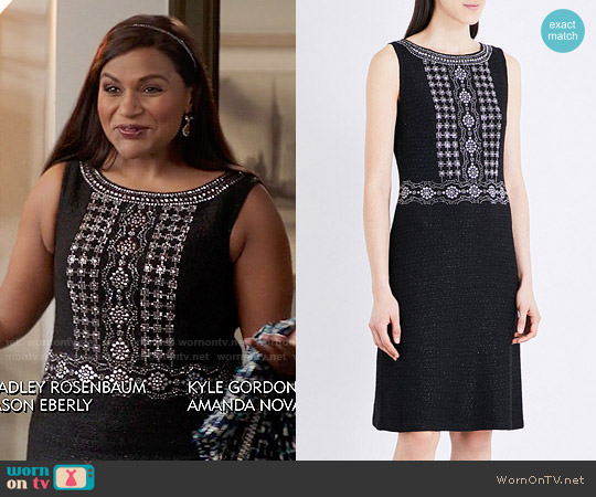 St John Masika Dress worn by Mindy Kaling on The Mindy Project