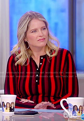 Sara's striped ribbed dress on The View
