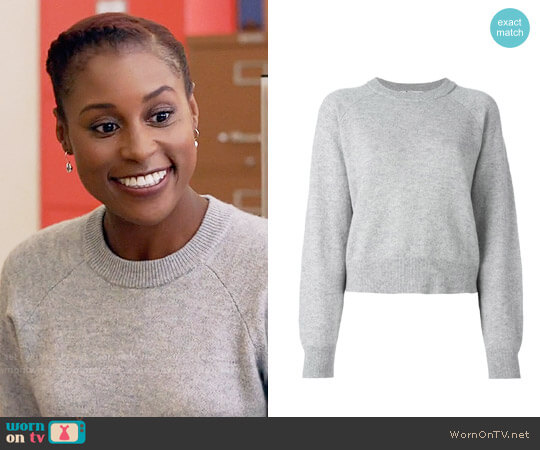 T by Alexander Wang Crew Neck Jumper worn by Issa Rae on Insecure