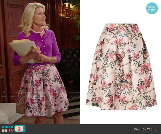 Ted Baker Jirily Skirt worn by Alley Mills on The Bold & the Beautiful