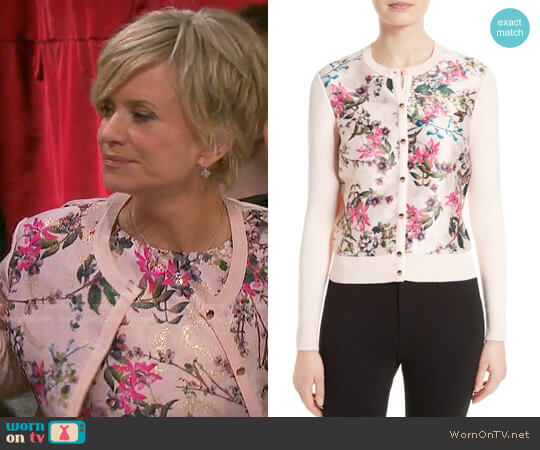 Ted Baker Karlia Cardigan worn by Mary Beth Evans on Days of our Lives