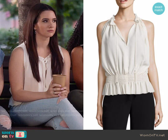 791263d10d17c5 Theory Dezzie Top worn by Jane Sloan (Katie Stevens) on The Bold Type