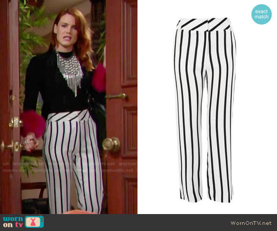 Topshop Humbug Stripe Slouch Trousers worn by Courtney Hope on The Bold & the Beautiful