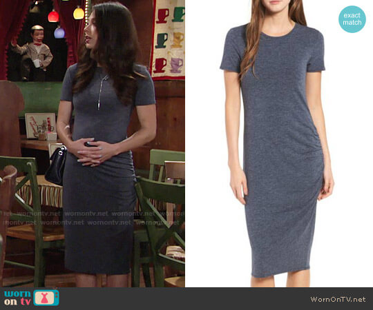 Treasure & Bond Side Ruched Body-Con Dress worn by Juliet Helton (Laur Allen) on The Young & the Restless