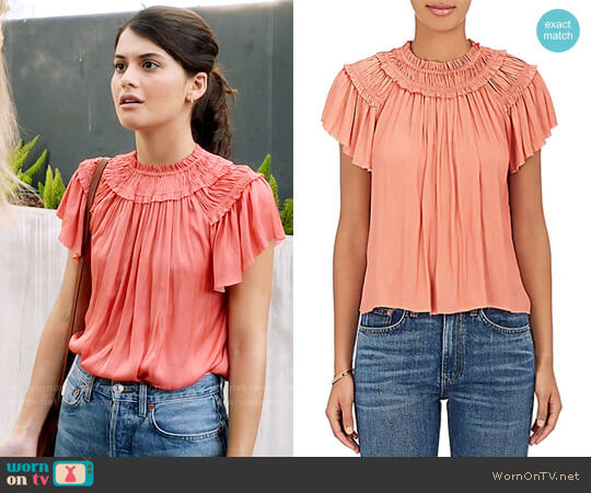 Ulla Johnson Dahlia Top worn by Sofia Black D'Elia on The Mick