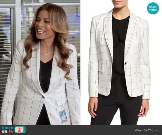 Veronica Beard Clubhouse Cutaway Jacket  worn by Lisa Vidal on Being Mary Jane