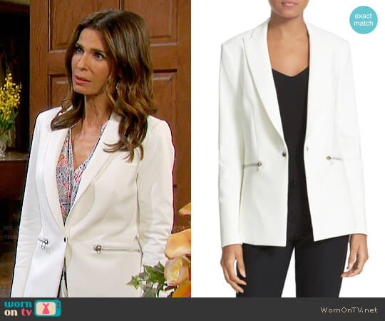 Veronica Beard Scuba Jacket worn by Hope Williams (Kristian Alfonso) on Days of our Lives