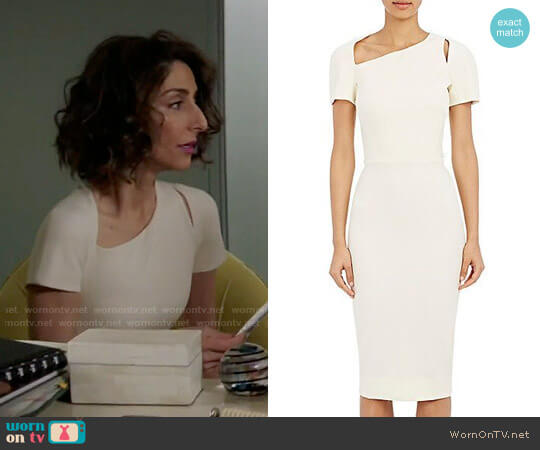 Victoria Beckham Cutout Sheath Dress worn by Necar Zadegan on GG2D