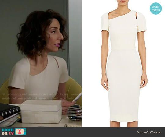 Victoria Beckham Cutout Sheath Dress worn by Delia (Necar Zadegan) on GG2D
