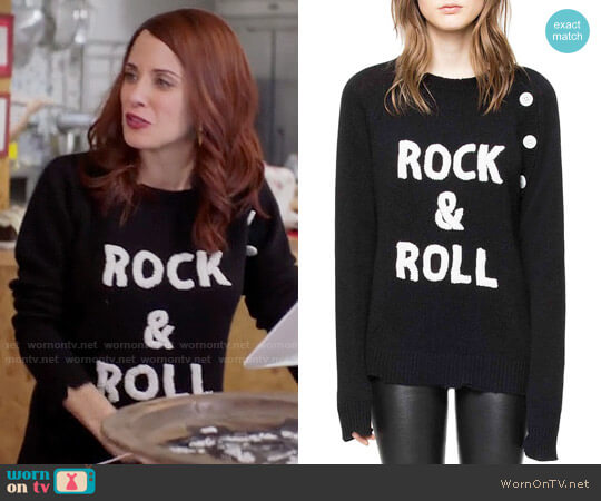Zadig & Voltaire Reglia Bis Cashmere Sweater worn by Jo (Alanna Ubach) on GG2D