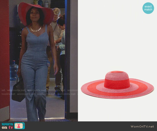 Zara Striped Floppy Hat worn by Mary Jane Paul (Gabrielle Union) on Being Mary Jane