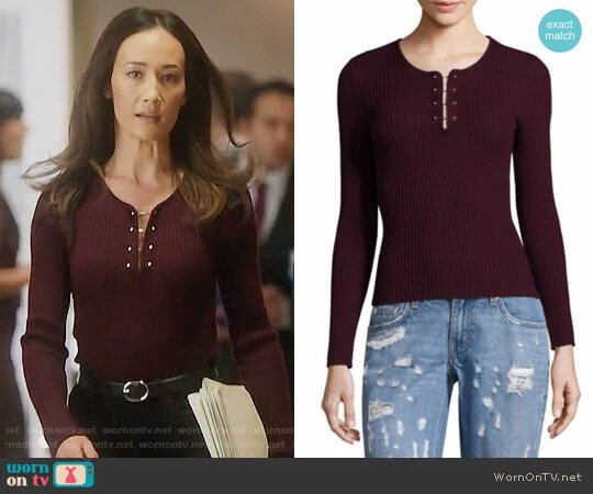10 Crosby Derek Lam  worn by Hannah Wells (Maggie Q) on Designated Survivor