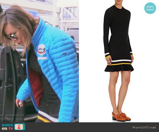 Striped Flutter-Hem Sweaterdress by 3.1 Phillip Lim worn by Kelly Dodd on The Real Housewives of Orange County