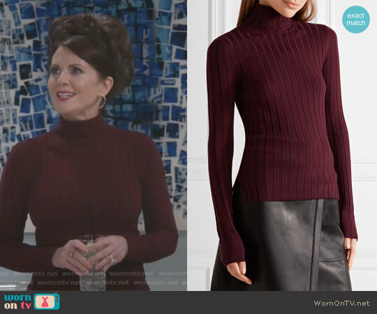 Corina Sweater by Acne Studios worn by Megan Mullally on Will & Grace