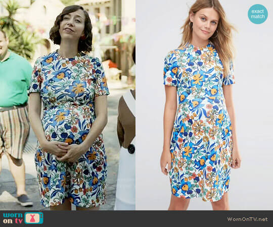 ASOS Maternity Skater Dress In Bold Floral worn by Carol Pilbasian (Kristen Schaal) on Last Man On Earth