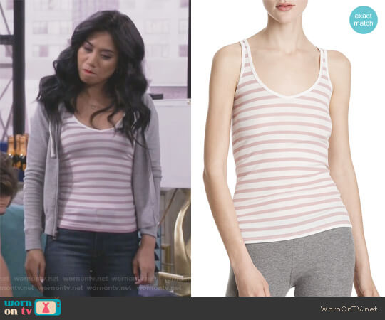 Striped Ribbed Modal Tank by Anthony Thomas Melillo worn by Liza Lapira on 9JKL