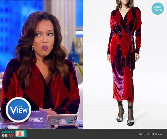 Velvet Diamond Wrap Dress on Attico worn by Sunny Hostin on The View