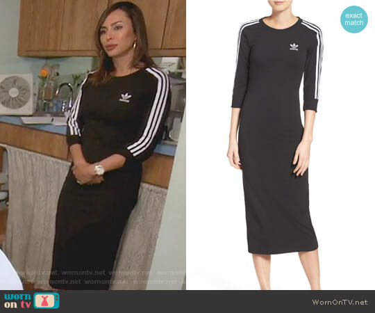 Originals 3-Stripes Dress by Adidas worn by Kelly Dodd on The Real Housewives of Orange County