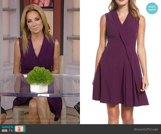 Stretch Crepe A-Line Dress by Adrianna Papell worn by Kathie Lee Gifford on Today